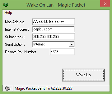 Wake On Lan Tool